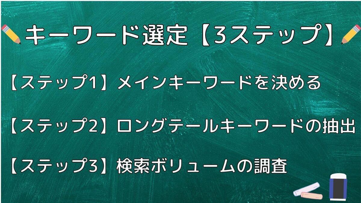キーワードの選定方法【3ステップ】